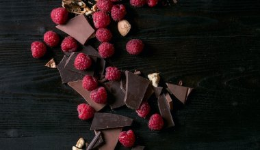 An image of a raspberries and chocolate