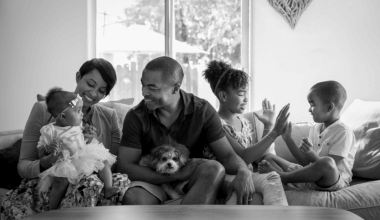 A Black founder and his family