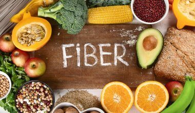 An image of high fiber foods