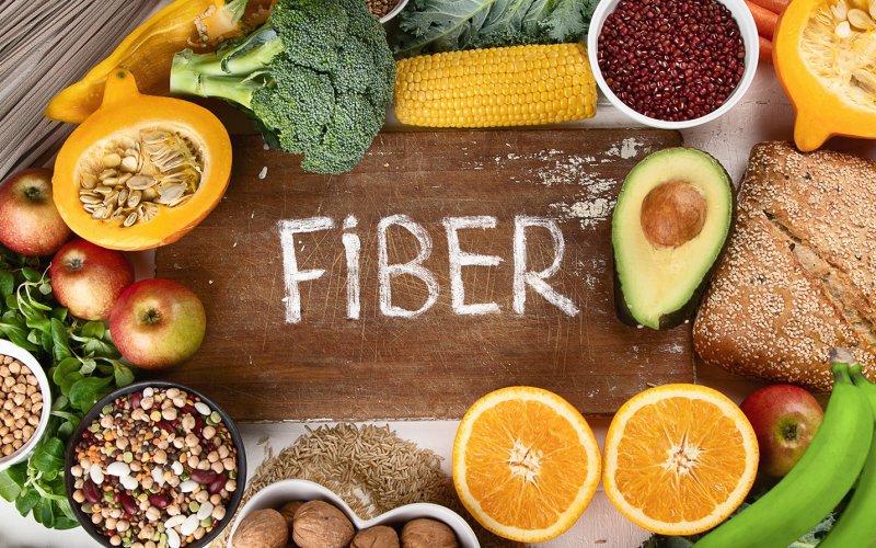 An image of high fiber foods