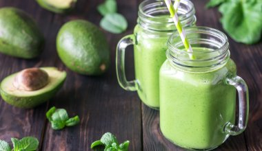 An image of a green goddess avocado shake