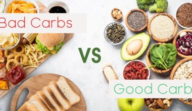 An image showing good carbs vs bar carbs