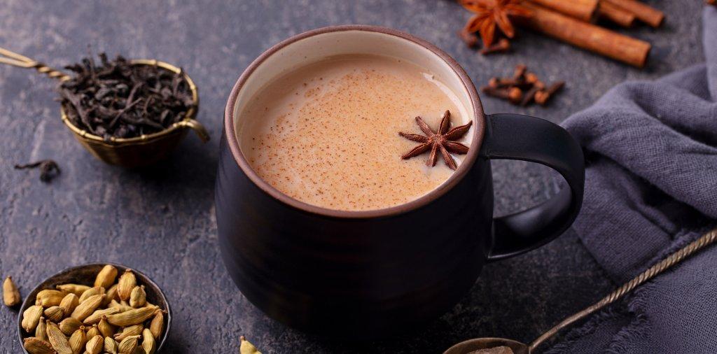 A hot chai tea in a mug