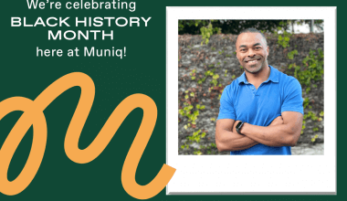An image of Muniq's founder and Black history month