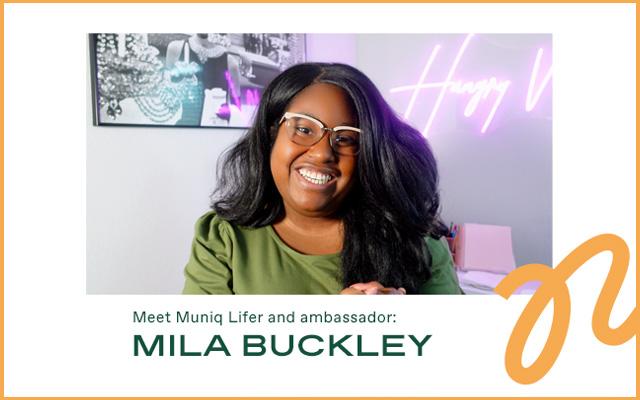 An image of a woman brand ambassador smiling