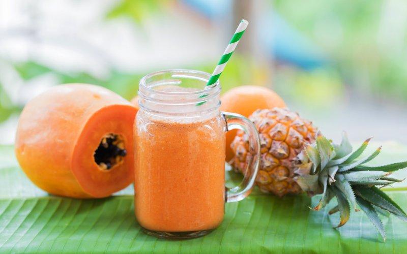 An image of a turmeric papaya shake