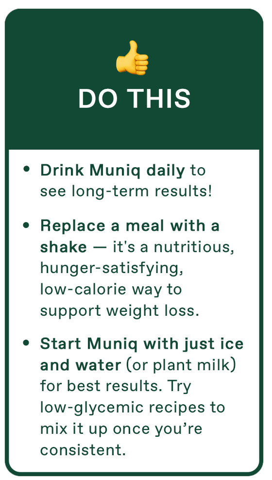An image showing 3 things to do when starting Muniq